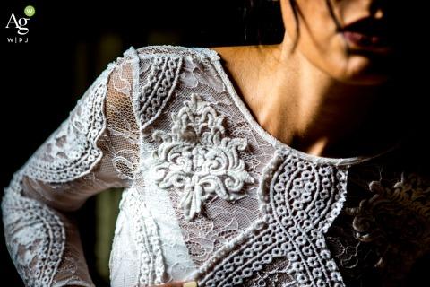 Villa Gioia Grande wedding venue photo of the bride's lace Dress