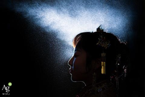 photo de mariage en Chine le jour réel | Mariée dans le maquillage