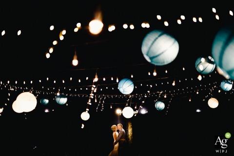 Fotografia miejsca ślubu w ogrodzie palmowym Hoi An - To zdjęcie zostało zrobione w Hoi An pary młodej na parkiecie