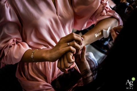 Phu Quoc ślubny temp tatuaż dla panny młodej