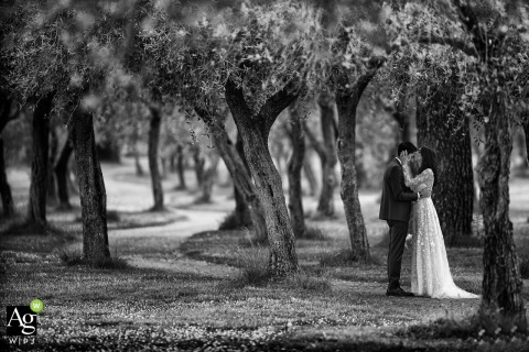 Savona Photography - Love the wedding - Portrait of bride and groom in the trees