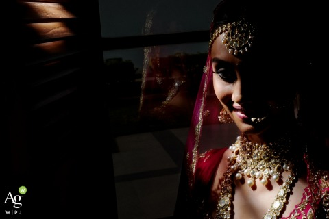 Mumbai, India	Bride and jewels portrait | Wedding Day Photography
