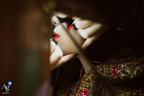 Szatnia hotelowa Nanping szczegół zastosowania szminki na pannie młodej