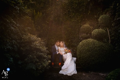 Schloss Eberstein Wedding Photography - a fairytale image of the bride and groom