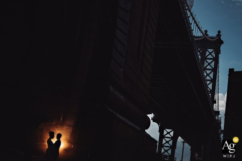 DUMBO Loft Wedding Venue Photography - Bride and groom portrait