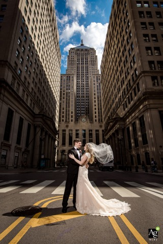 Millennium Knickerbocker Chicago venue photography at the wedding - bride and groom portraits