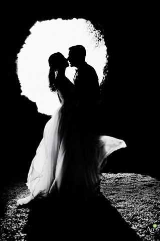 Wedding Photos from Italy - Paradiso di Barchi - Couple portrait in black and white