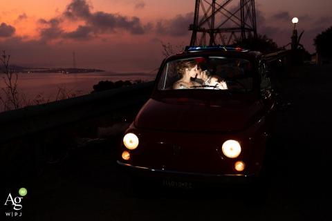 BORGO SANTA TRADA-VILLA SAN GIOVANNI-(RC)-老式汽车的结婚照