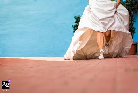 Murcia Hochzeit Porträt der schönen Schuhe der Braut