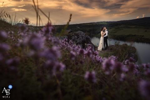 Séance de photo du jour du mariage à Sofia, en Bulgarie