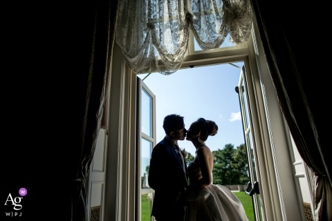 Bride and groom wedding photos at Oheka castle
