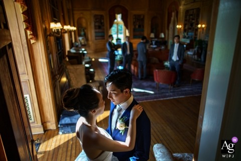 Oheka castle bride and groom portrait session