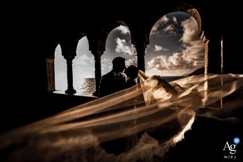 Portovenere - San Pietro Bride's Veil in the wedding pictures