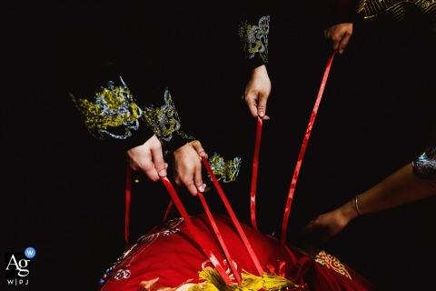 Sanming Fujian Hochzeitstag Detailfotografie der Spiele
