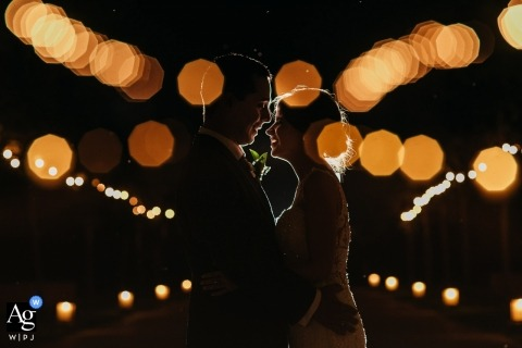 Hacienda Zorita Bride and groom night shot - Wedding Portrait Photographer