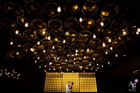Icona Avalon wedding venue photographer: Saw the ceiling and the yellow wall and knew what i wanted to do.