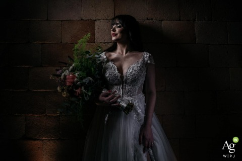 Allegro Buffet - São Caetano do Sul wedding venue picture   A soft lit portrait of the bride with a very serene and happy expression