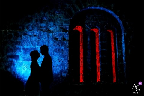 Smederevo Fortress, Serbia Bride and groom portrait with lighting