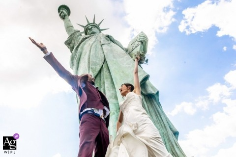 Statue of Liberty wedding portraits - Freedom bless your union