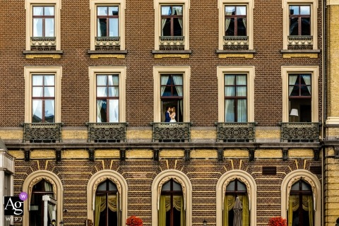 Amsterdam - Intercontinental hotel wedding venue pictures | Hotel in Amsterdam as frame for bridal couple