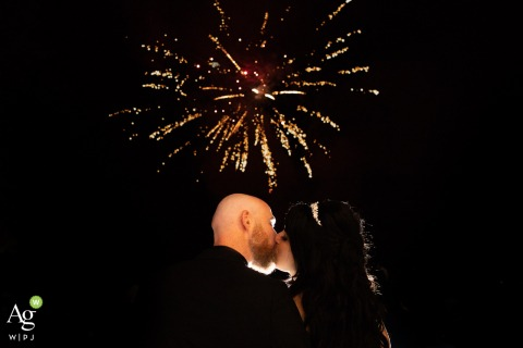 Chateau d'Azy, France | Photo of A couple and fireworks