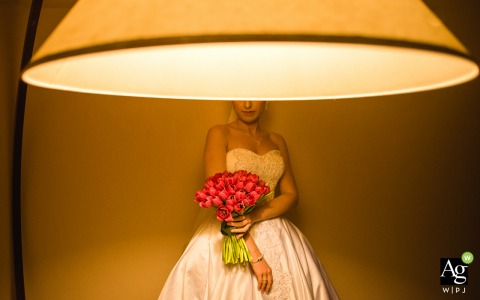 Brazil Hotel -Making of (bride) photo with her Flowers