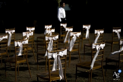 Fujian Hotel Wedding Detail Ribbon Photo | Chairs with Bows