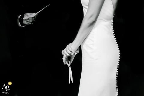 Cape Cod, MA Hochzeitsgelübde Fotografie | Zeremonie in Schwarz-Weiß-Bildern
