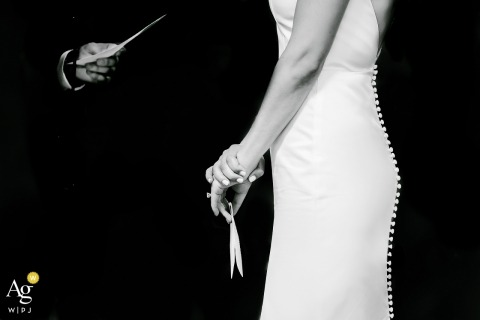 Cape Cod, MA Fotografie huwelijksgeloften | Ceremonie in zwart-witfoto's