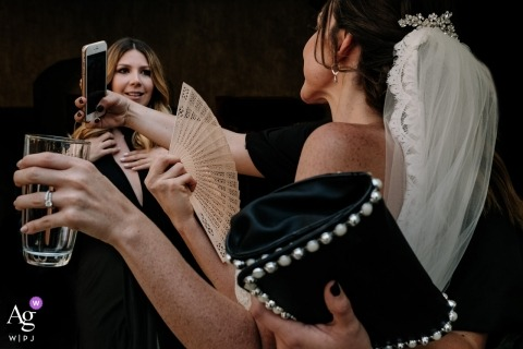 Quinta Real, Oaxaca, Mexico Wedding day details accompanied by hands during a selfie