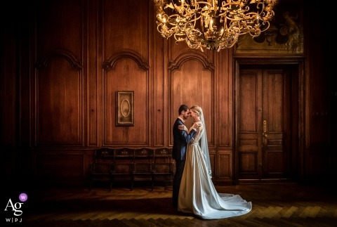 The Hague Netherlands, old castle wedding portraits | in this old room its just you and me