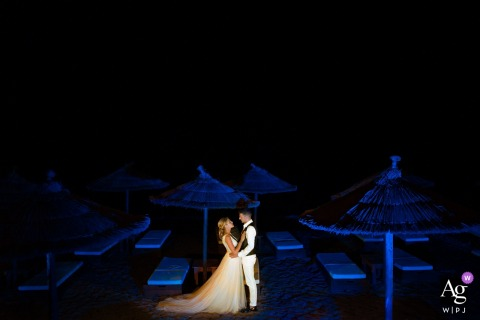 Zakynthos, Greece Wedding Couple | Night portraits