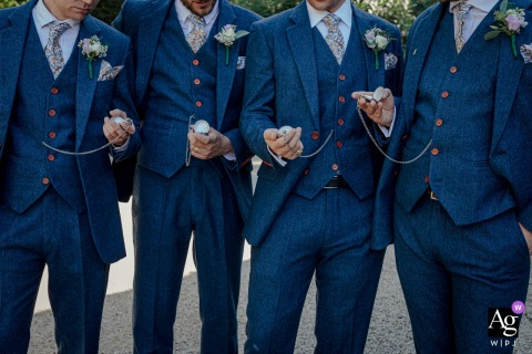Mas de Peint, Camargue, France | Portrait Detail of the Groom and groomsmen