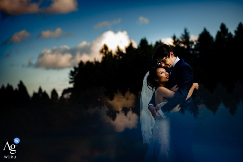 Hoher Darsberg sky and reflection | Portrait of the bride and groom