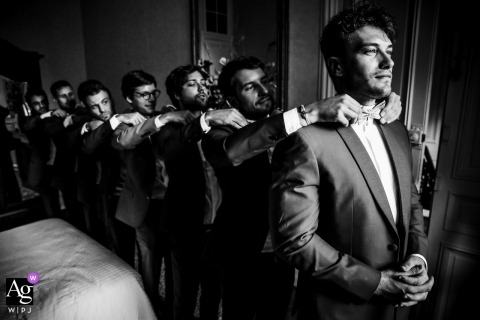 Before the Wedding Ceremony in France | Groom and his friends