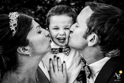 Wedding Day Portrait at the Reception - France | Son of the bride and groom