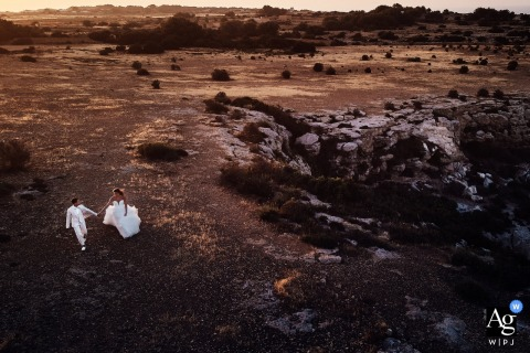 Formentera eiland koppel portret | Huwelijksfotografie buiten