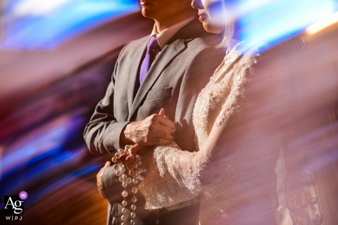 Campinas Couple at wedding ceremony | Fine art photography detail