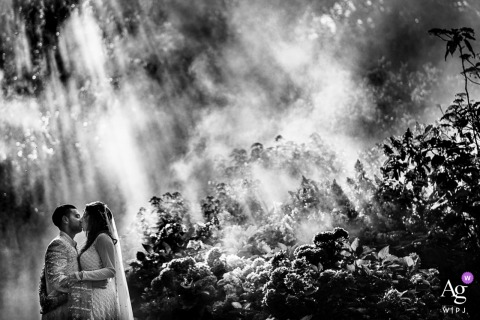 Fine Art wedding portrait with dramatic light with pure love in the City of Bradford, UK