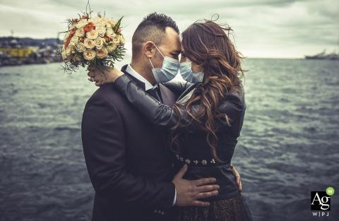 La Spezia creative couple portrait from a Wedding in Covid