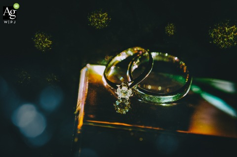 Hunan fine art wedding detail photography picture of the bright rings