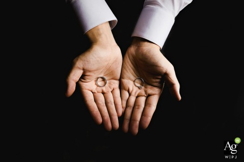 Quanzhou, Fujian fine art wedding detail photography picture showing hands and rings at home