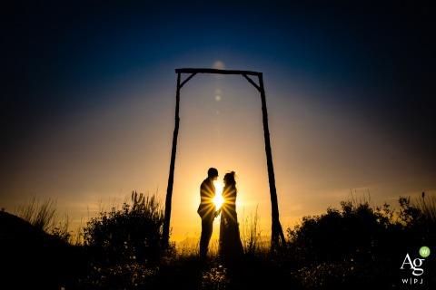 Mersin Divan Otel fine art wedding portrait image of a couple in a geometric frame