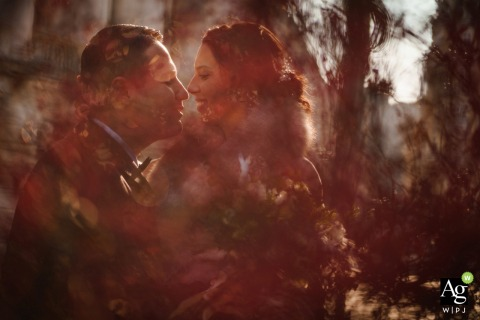Sofia Bulgaria creative wedding day portrait of Emotions at City Center