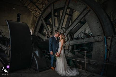 Zeche Fürst Leopold Dorsten bride and groom industrial portrait