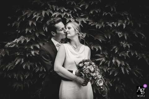 Black and white wedding Couple Shoot in Essen, Germany