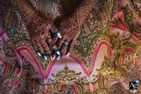 Ahmedabad, India Hands of the bride wedding art detail image