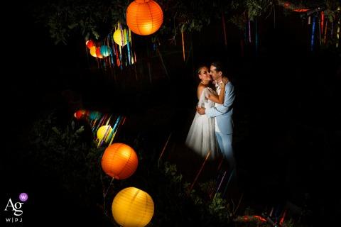Hochzeitstag Fotosession der Braut und des Bräutigams in Ankara