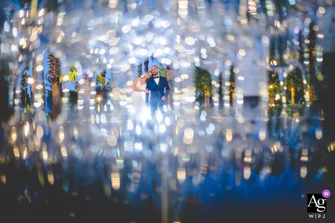Villa Anna - foto artística de casamento em Ispica com milhares de luzes
