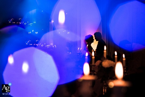Paris Reception artistic wedding bokeh image